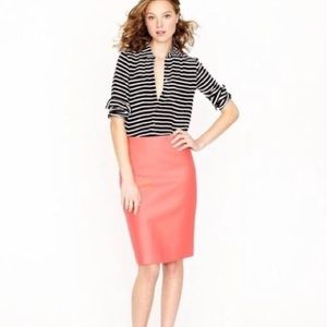 J. Crew No. 2 Pencil Skirt Double Serge Cotton 12